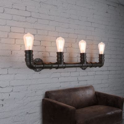 industrial style inches wide light large pipe led wall