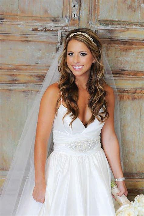 photo of long hairstyles veils wedding