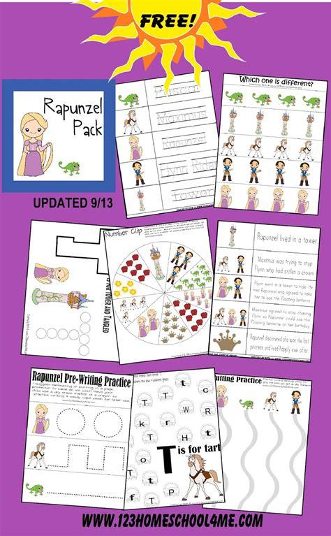 free rapunzel worksheets for kids