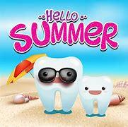 Afbeeldingsresultaten voor zomervakantie tandarts