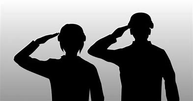 Image result for Woman Veteran Silhouette