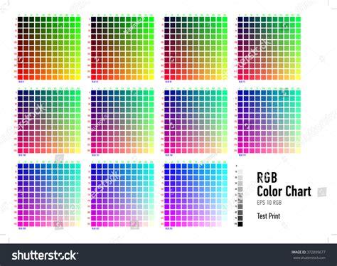 rgb press color chart stock vector shutterstock