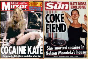 Image result for Kate Moss Cocaine