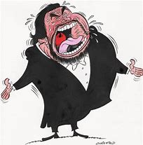 Image result for cartoon pics of luciano pavarotti