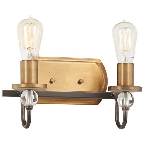 safra h bronze and brushed brass light wall