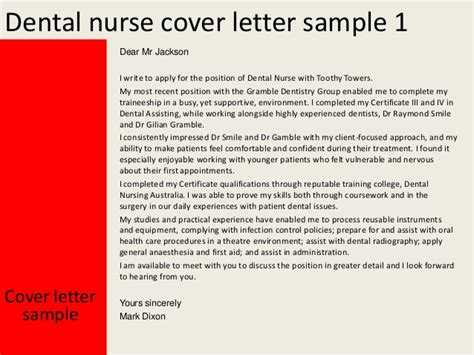 COVER LETTER EXAMPLES FOR TRAINEE DENTAL NURSE