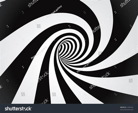 curved tunnel stock vector illustration