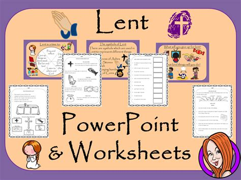 lent and ash wednesday powerpoint and worksheets
