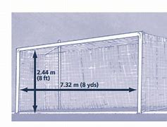 Image result for pictures of football goal dimensions