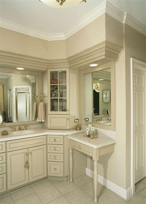 custom wood products bathroom cabinets corner cabinet