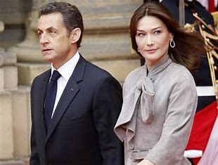 Image result for sarkozy and actress wife