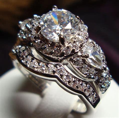 stunning cz vintage style women engagement wedding rings