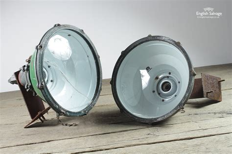 salvaged large industrial green wall lights