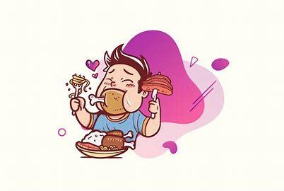 Image result for binge eating disorder cartoon