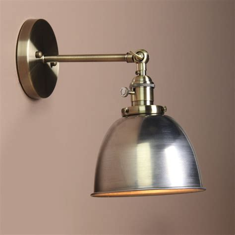 iron metal rustic vintage industrial style sconce wall