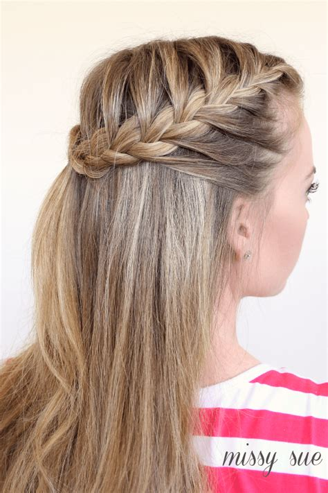 braid half up french braids