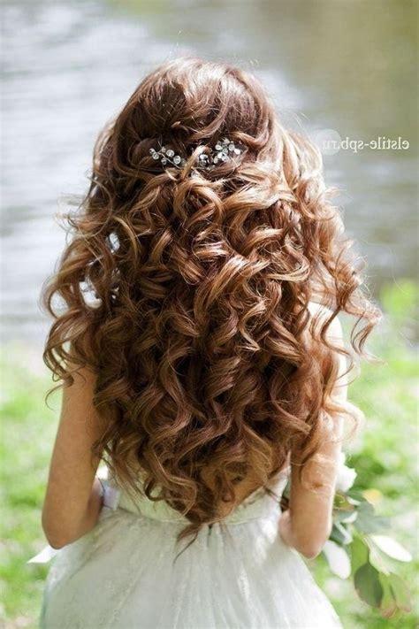 ideas of long hairstyles curls wedding