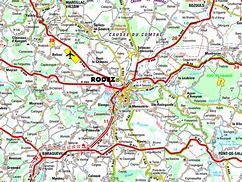 Image result for la carte de la ville rodez