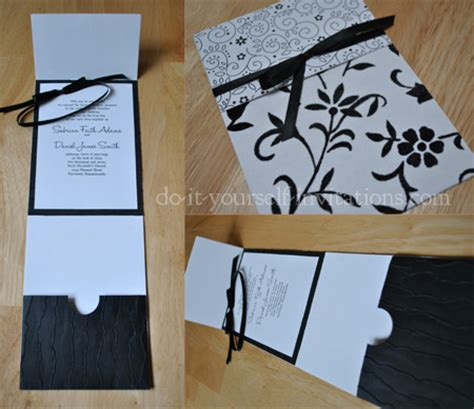 black and white wedding invitations diy ideas