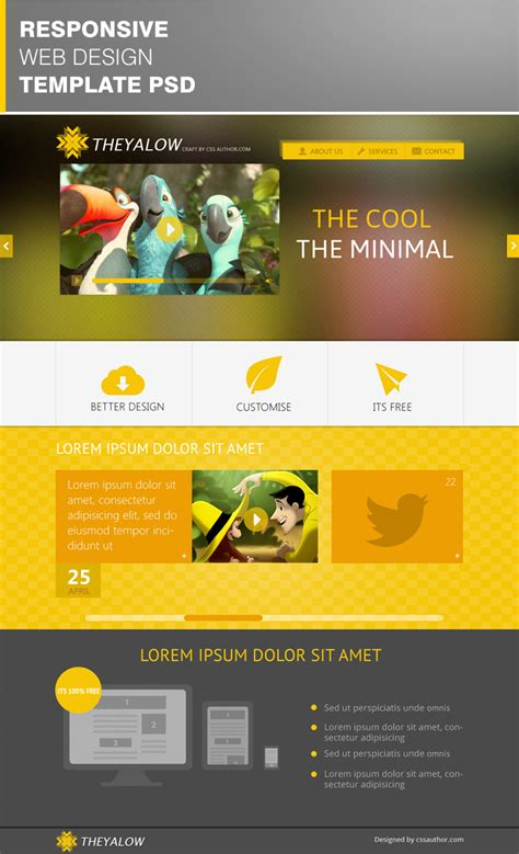free website templates theyalow a responsive web design