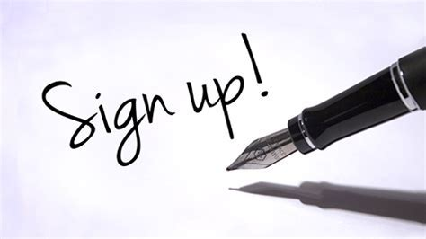 Image result for images of sign up
