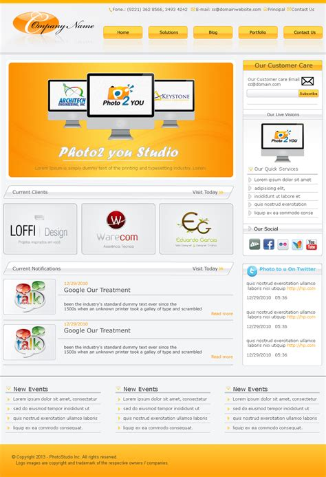 fresh free psd website templates freebies graphic