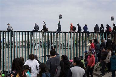Image result for images illegal immigrants at mex border