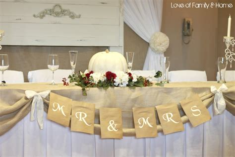 diy wedding word banners love of family home