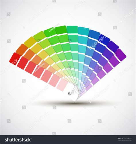 color palette isolated on white background stock vector