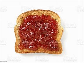 Image result for strawberry jam on toast