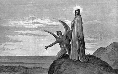 Image result for dore temptation in the desert of christ