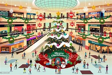 Image result for go to the shopping mall cartoon