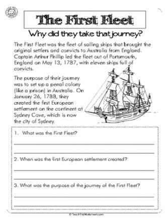 first fleet year activities letter home google search