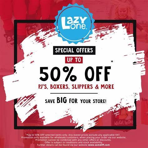 50% clearance sale on LazyOne