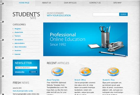 well designed psd website templates for free download
