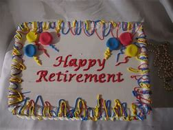 Image result for happy retirement cake