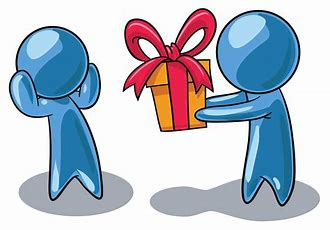 Image result for Receive Present Cartoon