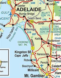 Image result for Limestone Coast Maps