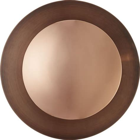 copper disc wall sconce cb modern wall sconces