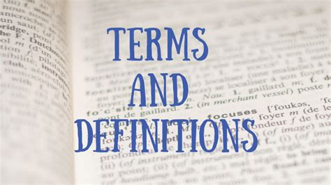 TERMS AND DEFINITIONS READING AND GAMING FOR JUSTICE