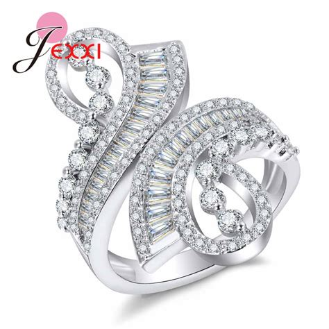 jexxi classic sterling silver wedding rings for women