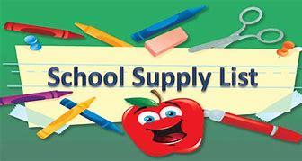 Image result for school supply list clip art