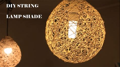 diy lampshade with cotton thread or twine youtube