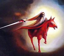 Image result for the red horse of death in the Bible