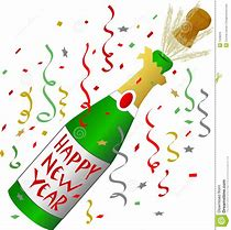 Image result for new years champagne clip art