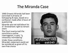 Image result for Miranda V. Arizona Summary Case