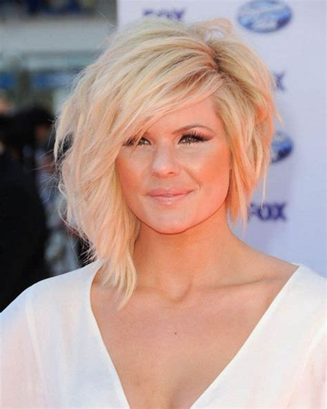 SIDE SWEPT BLONDE ASYMMETRICAL SHORT BOB HAIRSTYLES