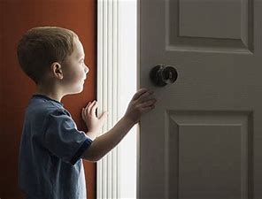 Image result for free picture of child waiting by door