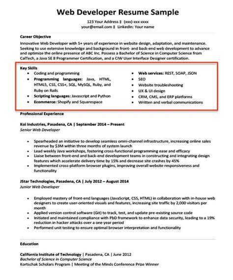RESUME SAMPLES COMPUTER SKILLS SECTION COMPUTER SKILLS