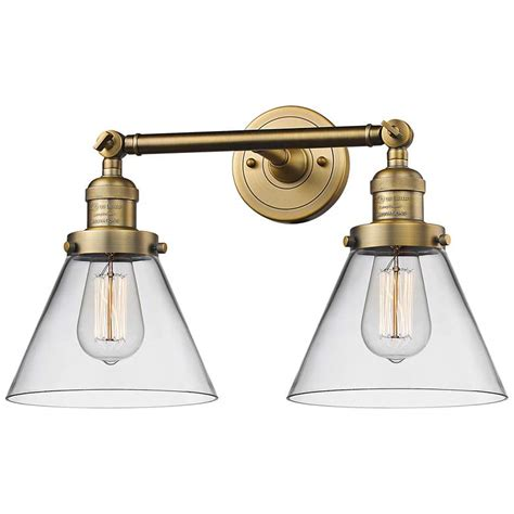 large cone h brushed brass light adjustable wall